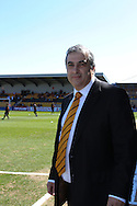 Picture by David Horn/Focus Images Ltd +44 7545 970036.20/04/2013.Tony Kleanthouse , Barnet Chairman before his team's last game at Underhill Stadium before the npower League 2 match at Underhill Stadium, London.
