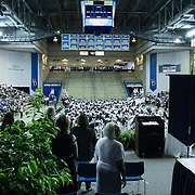 Delcastle high school students participate in a Academic Procession prior to commencement exercises Tuesday, May 26, 2015, at The Bob Carpenter Sports Convocation Center in Newark, Delaware
