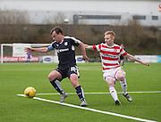 Dundee&rsquo;s Paul McGowan and Hamilton&rsquo;s Ali Crawford - Hamilton v Dundee, Ladbrokes Scottish Premiership at New Douglas Park<br />  <br />  - &copy; David Young - www.davidyoungphoto.co.uk - email: davidyoungphoto@gmail.com