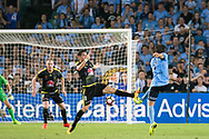February 8, 2017: Sydney FC midfielder Joshua BRILLANTE (6) almost scores at Round 19 of the 2017 Hyundai A-League match, between Sydney FC and Wellington Phoenix played at Allianz Stadium in Sydney. Sydney FC won the game 3-1.
