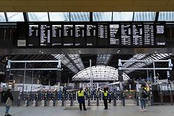 Interior of new Queen Street railway station after redevelopment in Glasgow, Scotland, UK