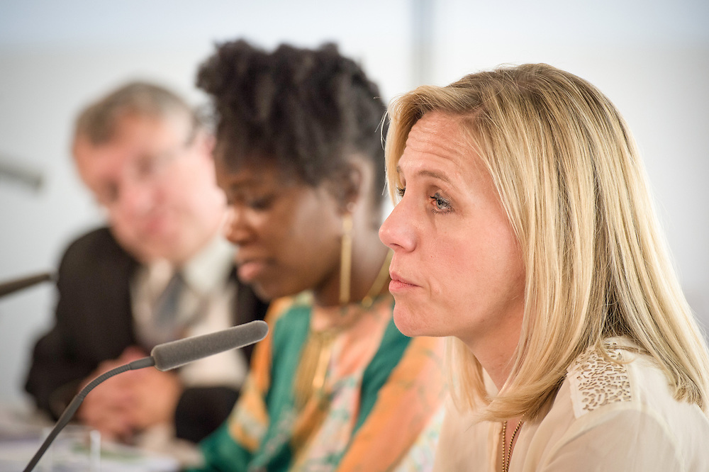 04 June 2015 - Belgium - Brussels - European Development Days - EDD - Growth - From cotton production to ethical clothing and fashion - Tina Stridde<br /> Managing Director of the Aid by Trade Foundation &copy; European Union
