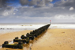 July 21, 2019 - Jetty On Beach, Yorkshire, England (Credit Image: © John Short/Design Pics via ZUMA Wire)