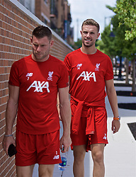 SOUTH BEND, INDIANA, USA - Wednesday, July 17, 2019: Liverpool's James Milner (L) and captain Jordan Henderson take a walk on day two of the club's pre-season tour of America. (Pic by David Rawcliffe/Propaganda)