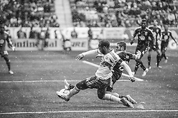 HARRISON, NJ - MARCH 16: Thierry Henry #14 of New York Red Bulls shoots the ball on net during a game against the D.C. United at Red Bulls Arena on March 16, 2013. (Photo By: Rob Tringali)