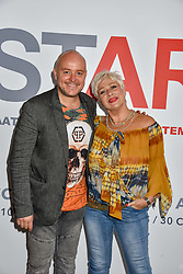 Lincoln Townley and Denise Welch at the START Art Fair - Preview Evening held at the Saatchi Gallery, Duke of York's HQ, King's Road, London on 25th September 2019.