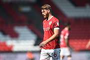 Nathan Baker (6) of Bristol City during the EFL Sky Bet Championship match between Bristol City and Hull City at Ashton Gate, Bristol, England on 21 April 2018. Picture by Graham Hunt.