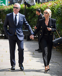 © Licensed to London News Pictures. 22/05/2018. London, UK. GRAHAM SOUNESS and his wife KAREN attend the funeral of television presenter Dale Winton at Commonwealth Church in Marylebone, London. Dale Winton, who was found dead at his home on April 18, was famous for presenting Supermarket Sweep and National Lottery game show. Photo credit: Ben Cawthra/LNP