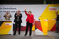DEU, Deutschland, Germany, Schwerin, 19.09.2017: Wahlveranstaltung der CDU mit Bundeskanzlerin Dr. Angela Merkel in einer Tennishalle.
