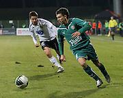 WROCLAW 26/10/2010.Puchar Polski 1/8 finalu .Sezon 2010/2011.Slask Wroclaw v Legia Warszawa.Na zdj. Waldemar Sobota /Slask/.Fot. Piotr Hawalej / WROFOTO