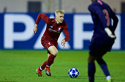 SAINT-GERMAIN-EN-LAYE, FRANCE - Wednesday, November 28, 2018: Liverpool's substitute Luis Longstaff during the UEFA Youth League Group C match between Paris Saint-Germain Under-19's and Liverpool FC Under-19's at Stade Georges-Lefèvre. (Pic by David Rawcliffe/Propaganda)