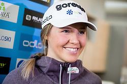 Anamarija Lampic during press conference of Slovenian Nordic Ski team before new season 2017/18, on November 14, 2017 in Gorenje, Ljubljana - Crnuce, Slovenia. Photo by Vid Ponikvar / Sportida