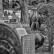 This little section of the cemetery caught my attention.  The central monument lead me to believe that it was for a deceased member of the Marine Corps.  When I took a closer look, I got a chuckle that the eagle seemed to be looking at the iron cross to its right!
