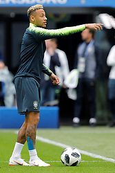June 21, 2018 - Saint Petersburg, Russia - Neymar gestures during a Brazil national team training session during the FIFA World Cup 2018 on June 21, 2018 at Saint Petersburg Stadium in Saint Petersburg, Russia. (Credit Image: © Mike Kireev/NurPhoto via ZUMA Press)
