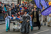 The Royal College of Physicians -The new Lord Mayor (Peter Estlin, the 691st) was sworn in yesterday. To celebrate, today is the annual Lord Mayor's Show. It includes Military bands, vintage buses, Dhol drummers, a combine harvester and a giant nodding dog in the three-mile-long procession. It brings together over 7,000 people, 200 horses and 140 motor and steam-driven vehicles in an event that dates back to the 13th century. The Lord Mayor of the City of London rides in the gold State Coach.