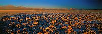 Atacama Salt flat at Sunset , Los Flamencos National Park , Chile