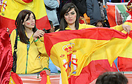 JOHANNESBURG, SOUTH AFRICA- Sunday 11 July 2010, Brazilian supporters with a Spanish flag during the final between Spain The Netherlands (Holland) held at Soccer City in Soweto during the 2010 FIFA Soccer World Cup..Photo by Roger Sedres/Image SA