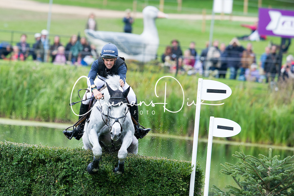 Paget Jonathan, (NZL), Shady Grey<br /> Cross country<br /> Land Rover Burghley Horse Trials - Stamford 2015<br /> © Hippo Foto - Jon Stroud<br /> 05/09/15