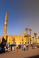 Hussein Square (next to the Khan el Khalili Bazaar) with Mosque of el-Husayn in background, Old Cairo (Islamic Cairo), Cairo, Egypt