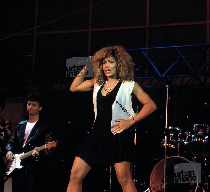 Tina Turner  at the Live Aid Concert at J.F.K. Stadium in Philadelphia on 13th July 1985.