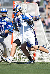 06 May 2007: Duke Blue Devils attackman Josh Coveleski (19) during a 19-6 victory over the Air Force Falcons at Koskinen Stadium in Durham, NC.