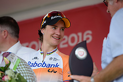 Stage winner, Marianne Vos (Rabo Liv) at the 108 km Stage 2 of the Lotto Belgium Tour 2016 on 8th September 2016 in Lierde, Belgium. (Photo by Sean Robinson/Velofocus).