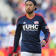 Lee Nguyen, New England Revolution, in action during the New York Red Bulls Vs New England Revolution, MLS Eastern Conference Final, first leg at Red Bull Arena, Harrison, New Jersey. USA. 23rd November 2014. Photo Tim Clayton