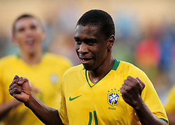 Juan after scoring for Brazil  during the third soccer match of the 2009 Confederations Cup between Brazil and Egypt played at Vodacom Park,Bloemfontein,South Africa on 15 June 2009.  Photo: Gerhard Steenkamp/Superimage Media.
