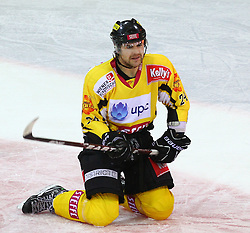 22.01.2012, Albert Schultz Halle, Wien, AUT, EBEL, UPC Vienna Capitals vs Moser Medical Graz 99ers, im Bild Torjubel Jonathan Ferland, (UPC Vienna Capitals, #24)  // during the icehockey match of EBEL between UPC Vienna Capitals (AUT) and Moser Medical Graz 99ers (AUT) at Albert Schultz Halle, Vienna, Austria on 22/01/2012,  EXPA Pictures © 2012, PhotoCredit: EXPA/ T. Haumer