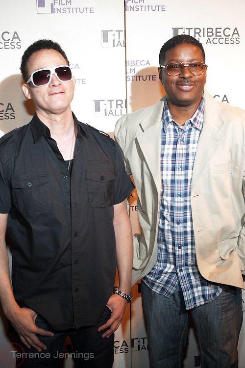 "19 April 2010- New York, NY-l to r: Christorpher "" Kid"" Reid and Christopher "" Play' Martin aka Kid N Play at The Tribeca Film Institute's 7th Annual Tribeca All-Access Kick Off Celebration held at Hiro Ballroom on April 19, 2010 in New York City. Photo Credit: Terrence Jennings"