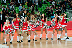 Cheerleaders Ice Ladies during final match of Basketball NLB League at Final Four tournament between KK Union Olimpija (SLO) and Partizan Belgrade (SRB), on April 21, 2011 at SRC Stozice, Ljubljana, Slovenia. (Photo By Matic Klansek Velej / Sportida.com)