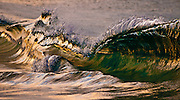 Wave breaking on the beach, Kirra, Queensland, Australia