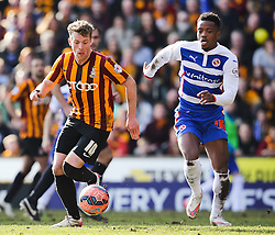 Bradford City's Billy Clarke chased by Reading's Nathaniel Chalobah  - Photo mandatory by-line: Matt McNulty/JMP - Mobile: 07966 386802 - 07/03/2015 - SPORT - Football - Bradford - Valley Parade - Bradford City v Reading - FA Cup - Quarter Final