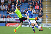 Northampton midfielder Paul Anderson (4) tries to block the pass by Chesterfield midfielder Dion Donohue (19) during the EFL Sky Bet League 1 match between Chesterfield and Northampton Town at the Proact stadium, Chesterfield, England on 17 September 2016. Photo by Aaron  Lupton.