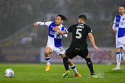 Kyle Bennett of Bristol Rovers gets away from Sam Morsy of Wigan Athletic - Mandatory by-line: Dougie Allward/JMP - 24/04/2018 - FOOTBALL - Memorial Stadium - Bristol, England - Bristol Rovers v Wigan Athletic - Sky Bet League One