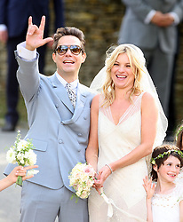 Supermodel Kate Moss and Jamie Hince wedding in Cotswolds, Oxfordshire. UK. 01/07/2011<br />BYLINE MUST READ : GOTCHAIMAGES.COM<br /><br />Copyright by © Gotcha Images Ltd. All rights reserved.<br />Usage of this image is conditional upon the acceptance <br />of Gotcha Images Ltd, terms and conditions available at<br />www.gotchaimages.com