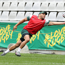 DURBAN, SOUTH AFRICA, 7 October, 2016 - Bryan Habana during the South African (Springbok) Captains' Run at the Growthpoint Kings Park Stadium in Durban, South Africa. (Photo by Steve Haag)