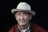 Mongolie. Province de Tov.  Arslan, 65 ans, nomade mongol. // Mongolia. Tov province. Arslan, 65, nomad.