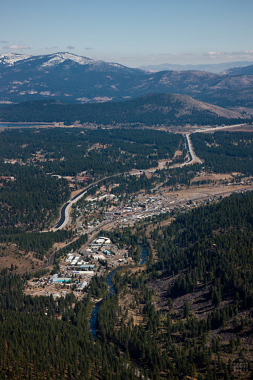 """""""Truckee Aerial 2"""" - Photograph of Truckee, California. Shot from an aerial seaplane with the door removed."""