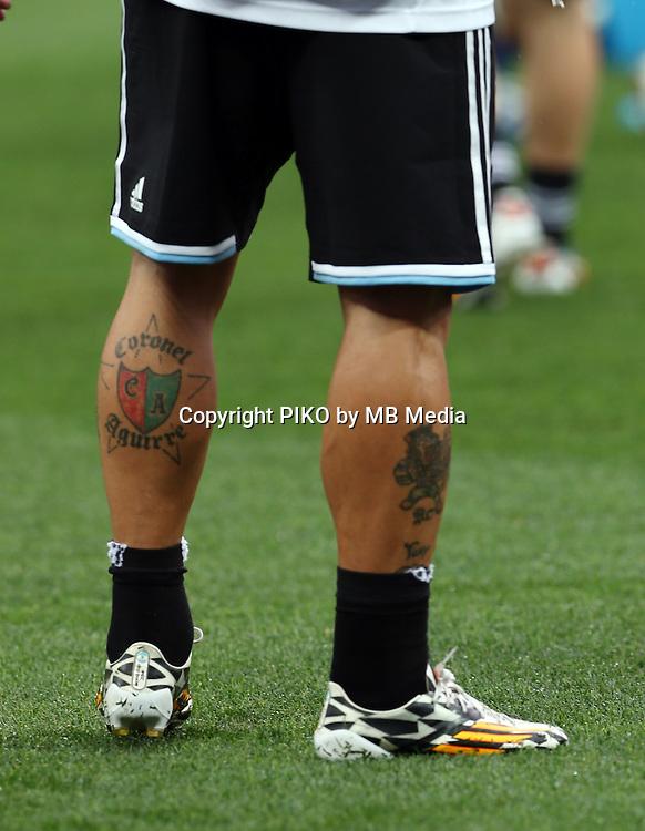 Fifa Soccer World Cup - Brazil 2014 - Semi-finals - <br /> NETHERLANDS (NED) Vs. ARGENTINA (ARG) - Arena de Sao Paulo - Sao Paulo -Brazil (BRA) - 09 July 2014 <br /> Here Argentine player Ezequiel Lavezzi foots<br /> &copy; PikoPress