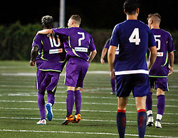 04 June 2016. New Orleans, Louisiana.<br /> NPSL Soccer, Pan American Stadium.<br /> New Orleans Jesters v Birmingham Hammers. Jesters win 4-1 when lightning stopped play in the 66th minute of the game. <br /> Photo; Charlie Varley/varleypix.com
