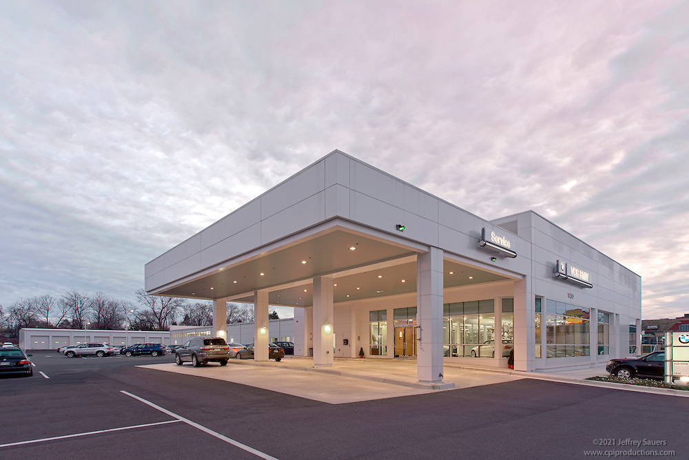 Architectural exterior photo of Rockville Car Dealership VOB BMW