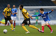 Shrewsbury Town defender Cameron Gayle during the Sky Bet League 2 match between Portsmouth and Shrewsbury Town at Fratton Park, Portsmouth, England on 28 March 2015.