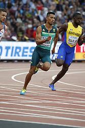 In the heats of the 200 meters men : South Africa's Wayde Van Niekerk during the IAAF World Athletics 2017 Championships In Olympic Stadium, Queen Elisabeth Park, London, UK, on August 7th, 2017 Photo by Henri Szwarc/ABACAPRESS.COM