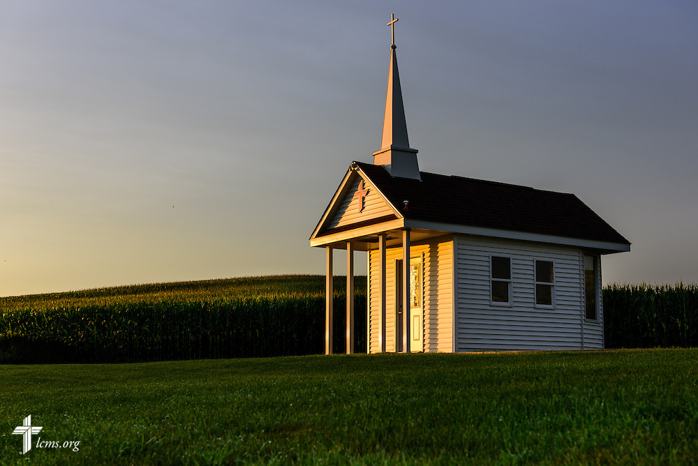 The sun rises over the Wayside Prayer Chapel on Sunday, July 19, 2015, at Mission Central in Mapleton, Iowa. LCMS Communications/Erik M. Lunsford