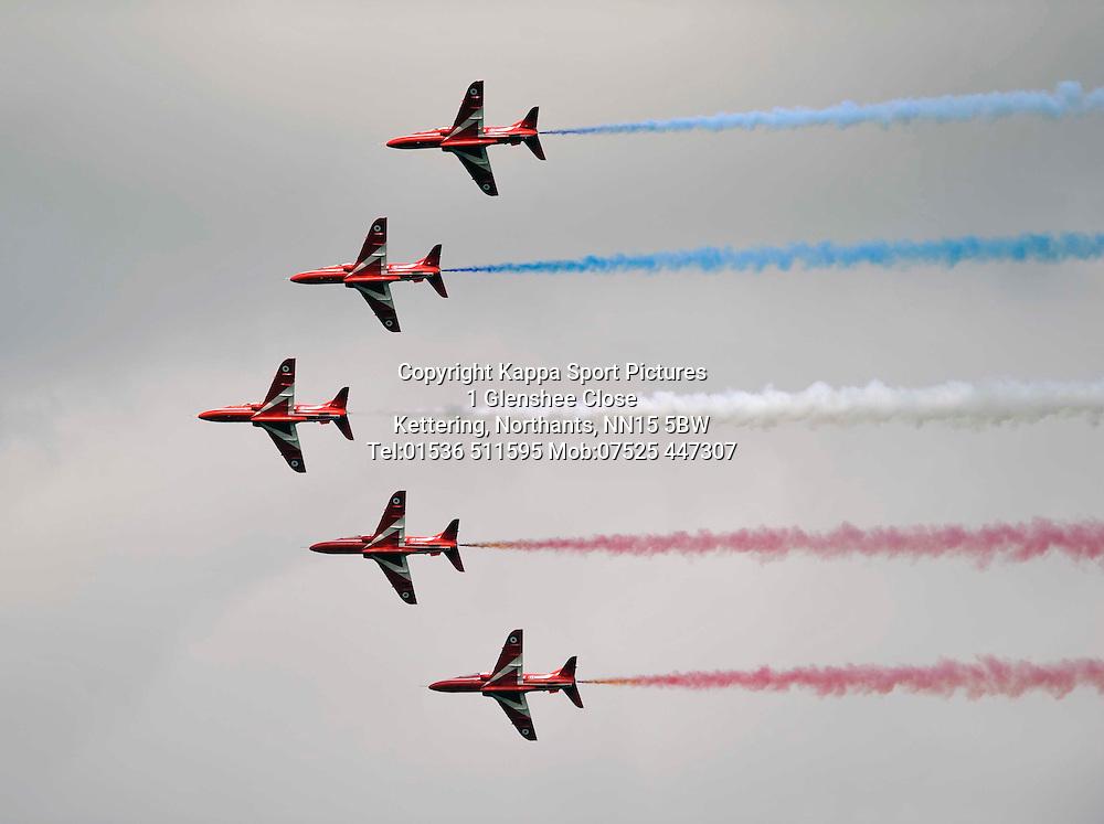 The Red Arrows, Royal International Air Tattoo, RAF Fairford, Gloustershire, 16th July 2015 Royal International Air Tattoo, RAF Fairford, Gloustershire, 16th July 2015
