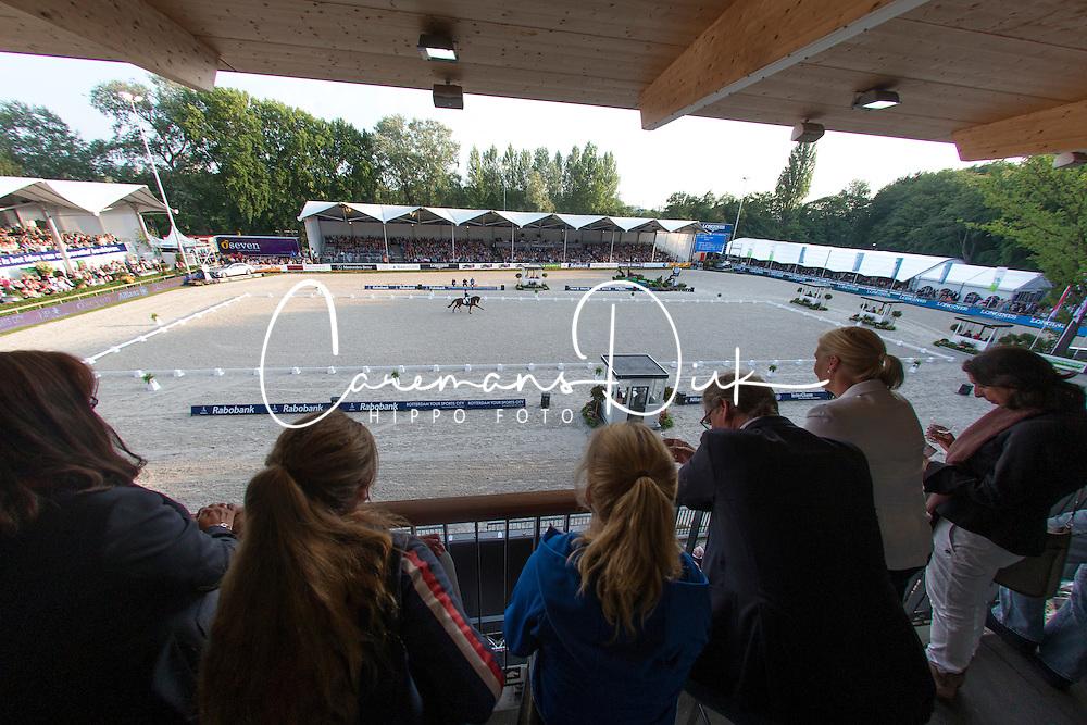 Overview dressage arena <br /> CDIO5 Grand Prix Freestyle <br /> CHIO Rotterdam 2014<br /> © Dirk Caremans