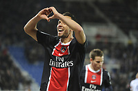 FOOTBALL - FRENCH CHAMPIONSHIP 2011/2012 - L1 - AJ AUXERRE v PARIS SAINT GERMAIN  - 15/04/2012 - PHOTO JEAN MARIE HERVIO / REGAMEDIA / DPPI - JOY NENE (PSG) AFTER HIS GOAL