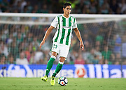SEVILLE, SPAIN - SEPTEMBER 25:  Aissa Mandi of Real Betis Balompie in action during the La Liga match between Real Betis and Levante at Estadio Benito Villamarin on September 25, 2017 in Seville, .  (Photo by Aitor Alcalde Colomer/Getty Images)