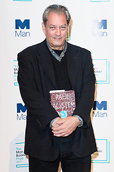 © Licensed to London News Pictures. 16/10/2017. London, UK.  US author PAUL AUSter with his book 4321 attends the Man Booker prize for fiction shortlisted event at the Royal festival Hall. The winning author will receive £50,000 prize money.Photo credit: Ray Tang/LNP